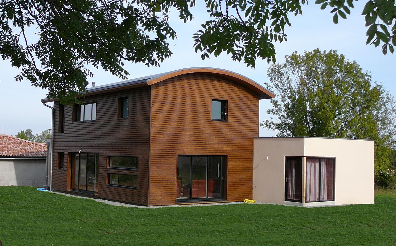 Maison individuelle à ossature bois et briques