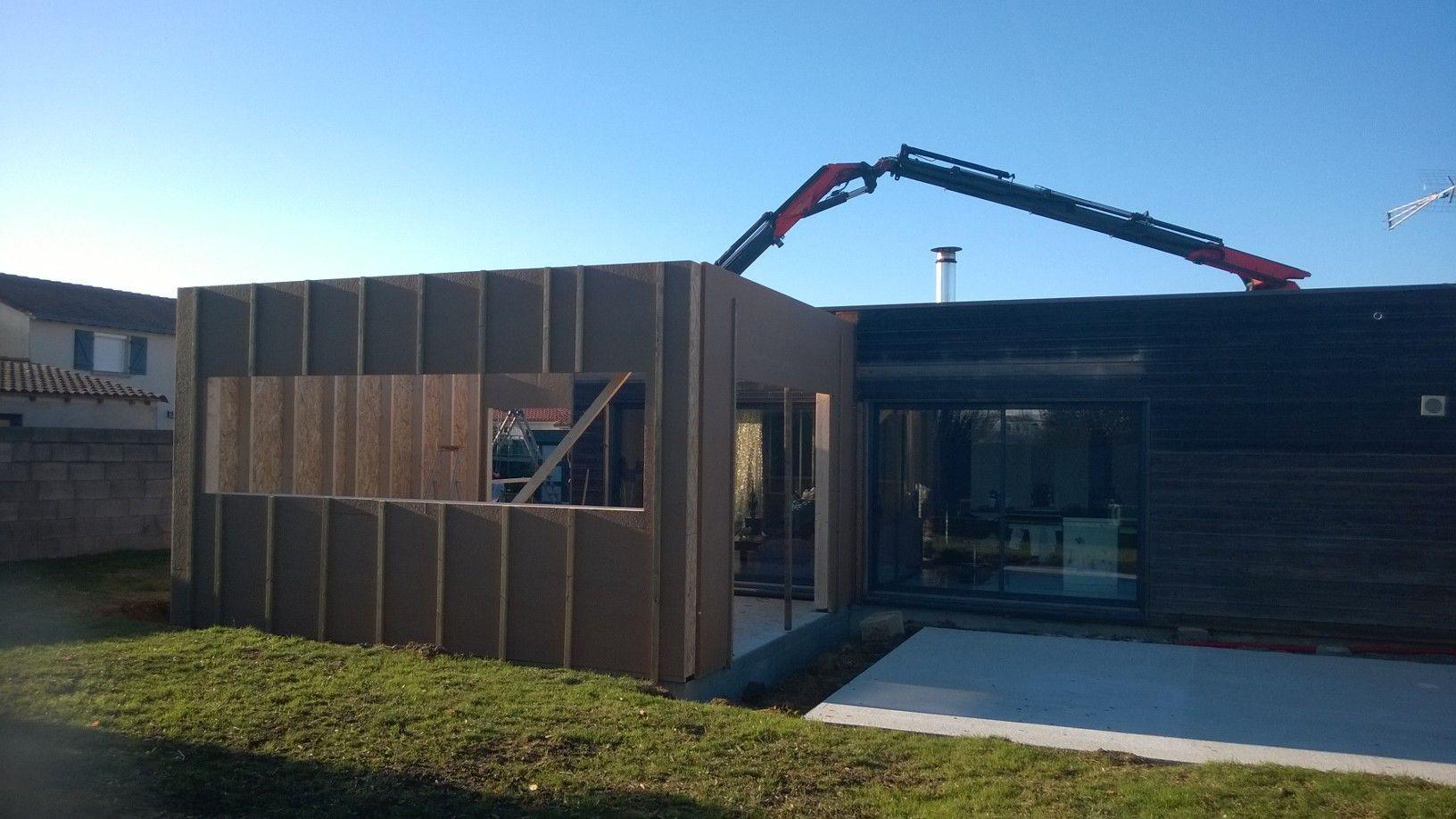 Extension d'une maison en cours à CHOLET