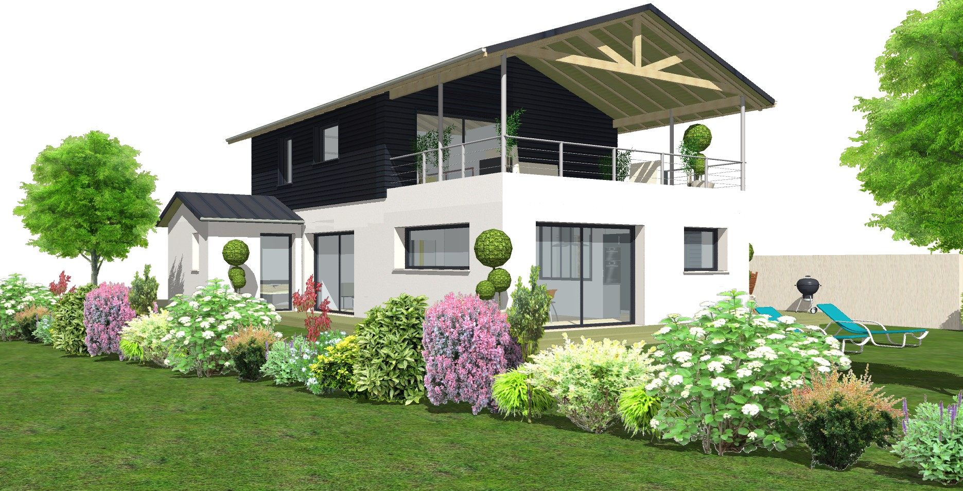 Avant projet maison bois et briques