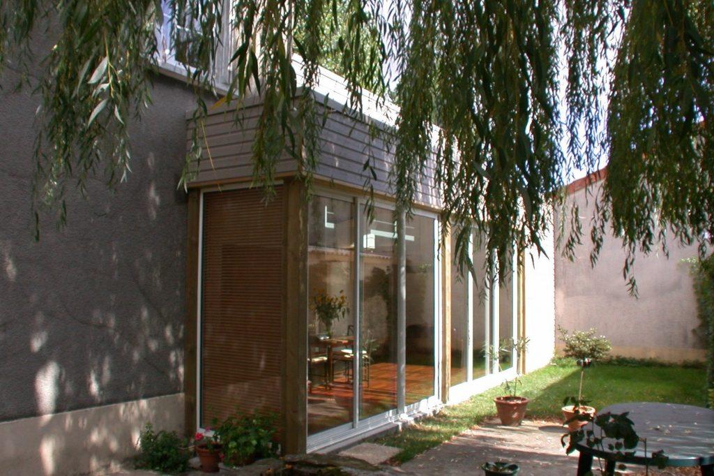 Extension ossature bois maison cholet