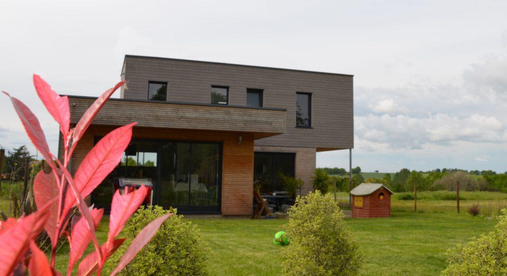 Maison à ossature bois MAY SUR EVRE 49 bruno auger maitre d'oeuvre
