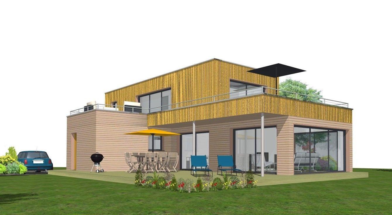 Avant projet maison à ossature bois AMIGNE 49
