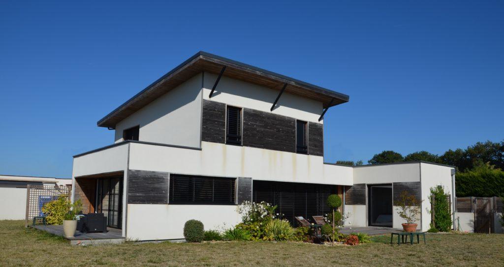 CHUPIN CHOLET RIBOU MAISON OSSATURE BOIS DECORATION INTERIEURE ARCHITECTURE BRUNO AUGER MAULEVRIER MAITRE D'OEUVRE