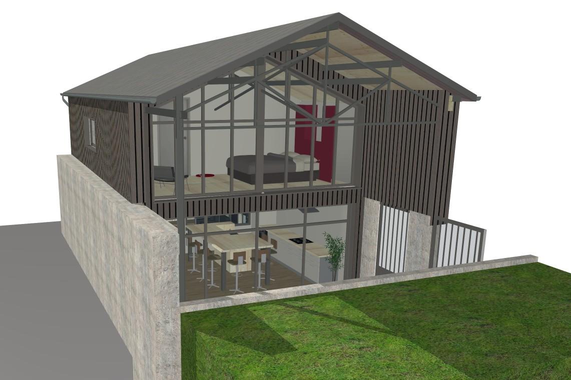 Rénovation d'un ancien atelier en gîte de tourisme MAULEVRIER (49)