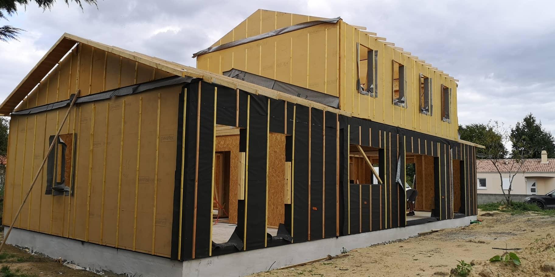 Construction d'une maison à ossature bois à AUBIGNY LES CLOUZEAUX (85)