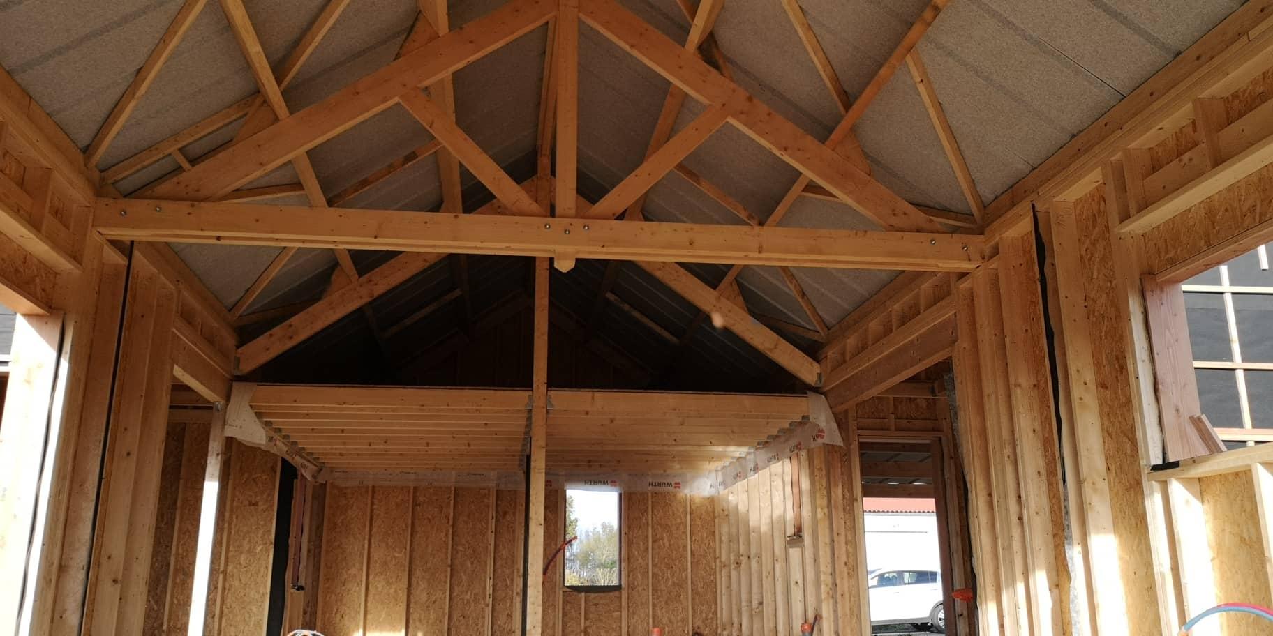Construction d'une maison à ossature bois à JALLAIS (49)